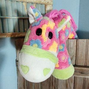 Dan Dee Pink/Green Flower Pony